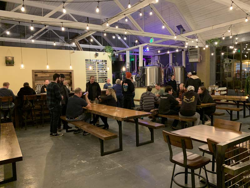good society brewery, a picture from the opening.