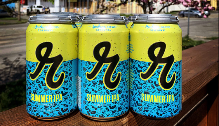 reuben's brews summer ipa - now available