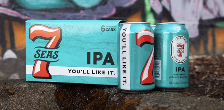 7 Seas Brewing introduces new branding and packaging for its beer.