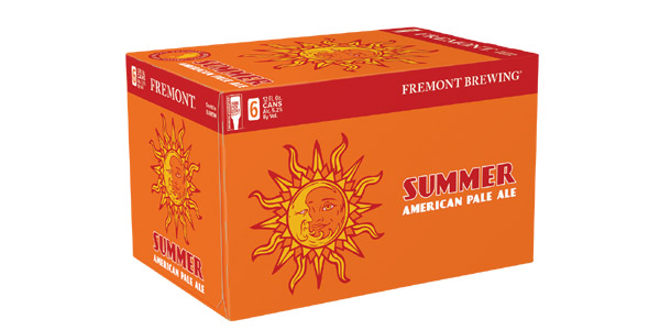 fremont brewing company. Summer ale. six pack.