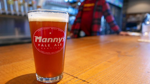 Georgetown Brewing introduces cans of Manny's Pale Ale for the first time.