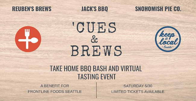 Reuben's Brews teams up with Jack's BBQ for an online beer dinner