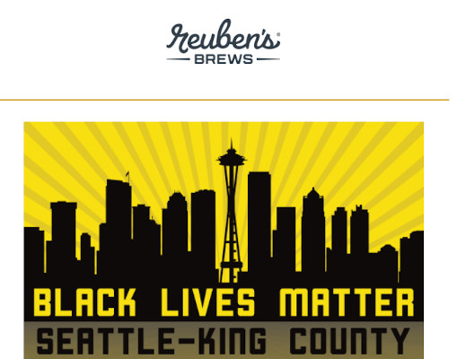 Reuben's Brews supports black lives matter.