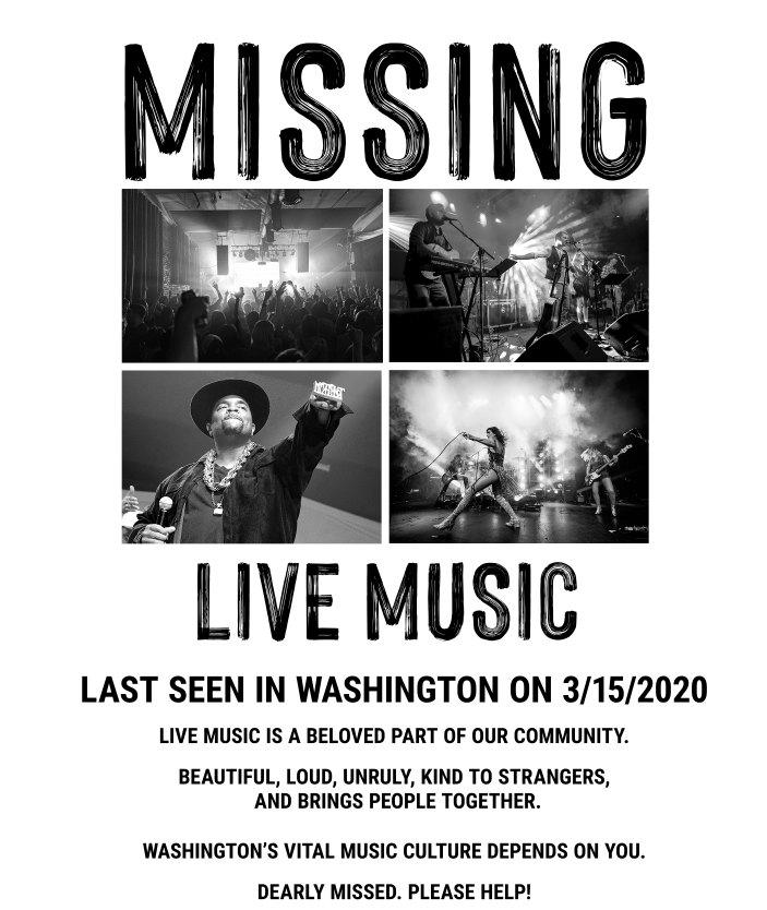keep music live washington poster