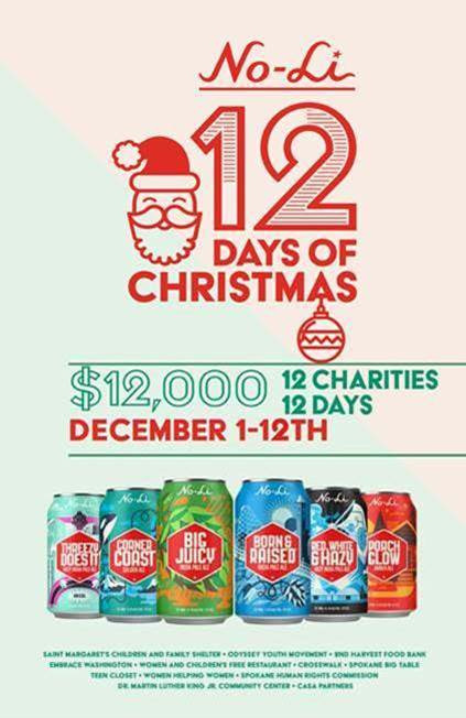 No-Li Brewhouse 12 days of Christmas.