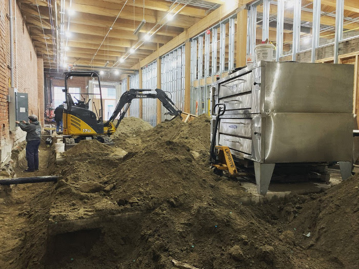 Camp Colvos Brewing - Tacoma location under construction.