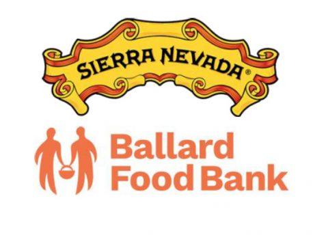 sierra nevada brewing and ballard food bank logos.