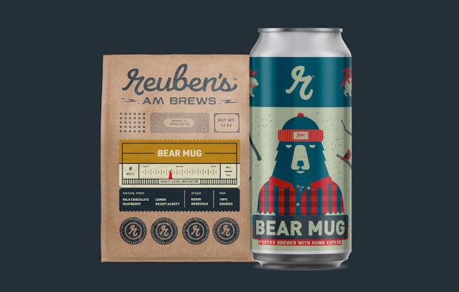 Reuben's Brews and Kuma Coffee - Bear Mug.