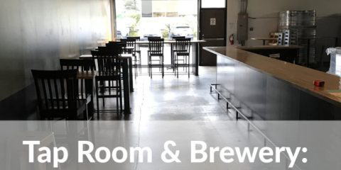 airways brewing company - taproom at the brewery.