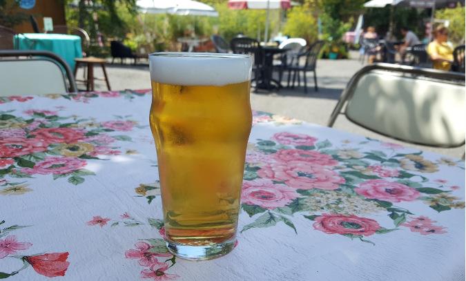 beverige place pub beer garden.