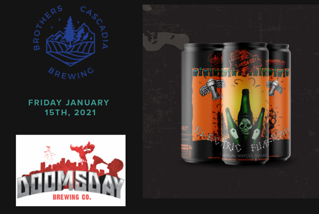 brothers cascadia brewing and doomsday brewing collaboration beer.