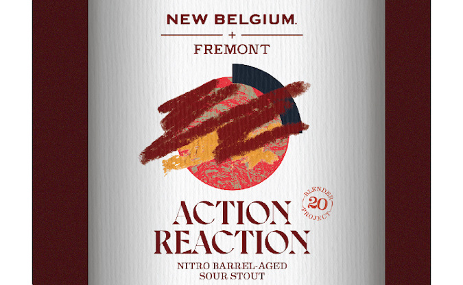 fremont brewing and new belgium brewing - bottle of the new collaboration beer.