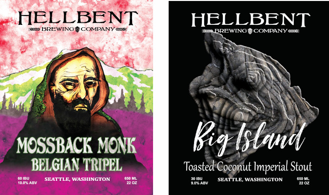 new beer releases from hellbent brewing in seattle january 2021.