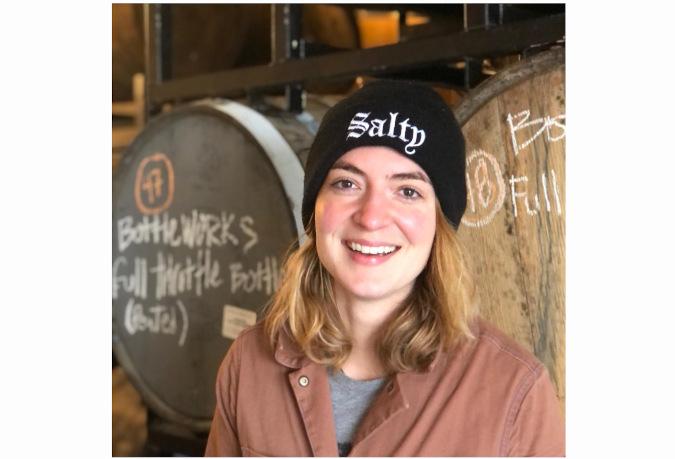Audra Johansen, the head brewer at Ravenna Brewing in Seattle.