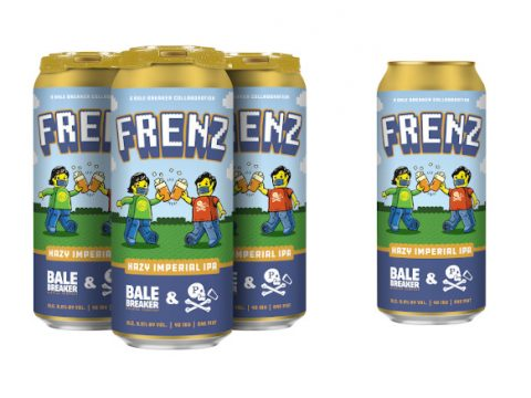 Bale Breaker Brewing's Frenz Imperial Hazy IPA cans.