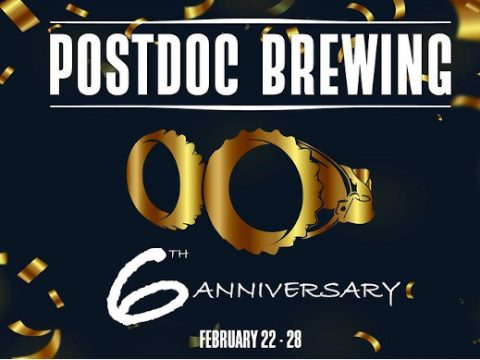 Postdoc Brewing 6th anniversary poster