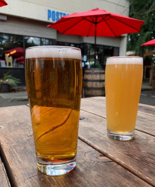Beer garden at Postdoc Brewing.