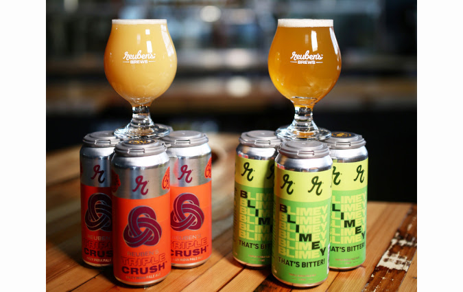 Two triple IPAs from Reuben's Brews