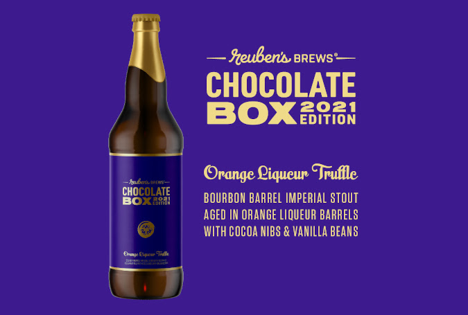 Picture of Orange Liqueur Truffle - a new stout from Reuben's Brews