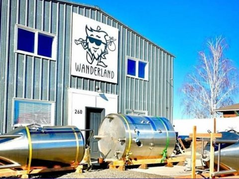 Installing new brewing equipment at Wandering Hop Brewery.