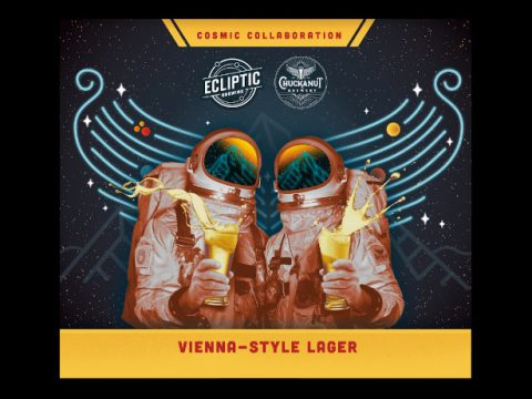 Ecliptic Brewing and Chuckanut Brewery, label for their collaborative beer.