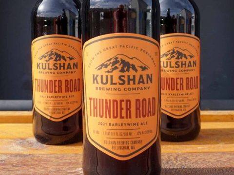 Kulshan Brewing, a bottle of Thunder Road barley wine.