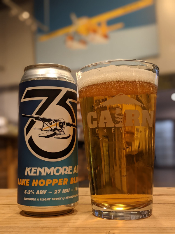 a can of cairn brewing's 5th anniversary beer.