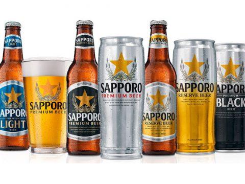 Sapporo beer - portfolio of beers.