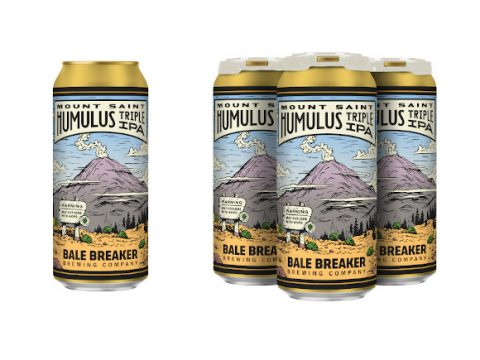 Cans of Bale Breaker's triple IPA.